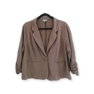 Cato Tan Ruched Sleeve Blazer & Pants